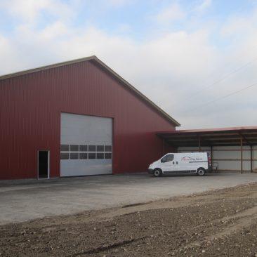 Opførelse af maskinhus (850 m2)